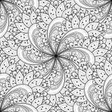 Vector Seamless Monochrome Ornate Pattern Royalty Free Stock Photos