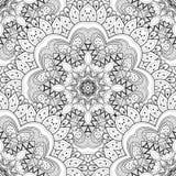 Vector Seamless Monochrome Ornate Pattern Stock Photos