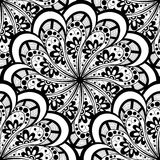 Vector Seamless Monochrome Ornate Pattern Royalty Free Stock Photography