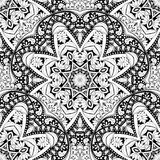Vector Seamless Monochrome Ornate Pattern Royalty Free Stock Images