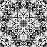 Vector Seamless Monochrome Ornate Pattern Royalty Free Stock Image