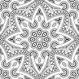 Vector Seamless Monochrome Ornate Pattern Stock Photo