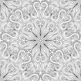 Vector Seamless Monochrome Ornate Pattern Stock Image