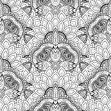 Vector Seamless Monochrome Ornate Pattern Stock Photography