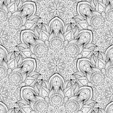 Vector Seamless Monochrome Ornate Pattern Royalty Free Stock Photos