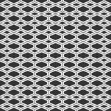 Vector seamless monochrome pattern. Modern stylish texture of rhombuses and elongated hexagons. Geometric lattice grid royalty free illustration