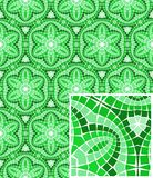 Vector seamless mosaic ornaments Royalty Free Stock Photo