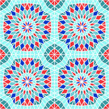 Vector Seamless Mosaic Pattern Royalty Free Stock Images