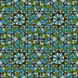 Vector Seamless Mosaic Pattern. Royalty Free Stock Photography