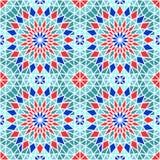 Vector Seamless Mosaic Pattern Stock Image