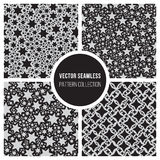 Vector Seamless Mosaic Star Pattern Collection Stock Image