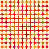 Vector Seamless Multicolor Cross Tiling Grid With White Circles Fancy Pattern Stock Photography