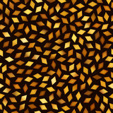 Vector Seamless Multicolor Golden Gradient Rhombus Jumble Pattern Royalty Free Stock Image