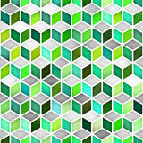 Vector Seamless Multicolor Gradient Cube Shape Rhombus Grid Geometric Pattern. Vector Seamless Multicolor Gradient Cube Shape Rhombus Grid Pattern. Abstract Stock Photos