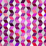 Vector Seamless Multicolor Gradient Cube Shape Rhombus Grid Geometric Pattern Royalty Free Stock Photos