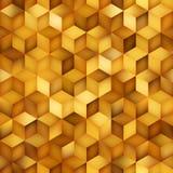 Vector Seamless Multicolor Gradient Cube Shape Rhombus Grid Geometric Pattern Stock Image