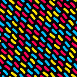 Vector Seamless Multicolor Hand Drawn Lines Pattern Stock Photography