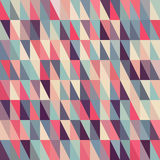Vector Seamless Multicolor Triangle Grid in Shades of Pink Blue and Purple Stock Images