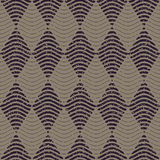 Vector Seamless Navy Grey Color Hand Drawn Wavy Lines Rhombus Checker Retro Pattern Abstract Background Stock Photography