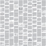 Vector seamless newspaper pattern - abstract monoc vector illustration