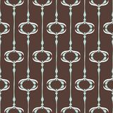Vector seamless ogee pattern in retro style. Vintage brown geomteric backgound. Perfect for wallpaper, home decor, stationery and fashion Royalty Free Stock Image