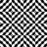 Vector Seamless Optical Pattern. Vector illustration of an optical illusion pattern in black and white Royalty Free Stock Photos