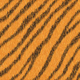 Vector seamless orange tiger fur pattern. Royalty Free Stock Images