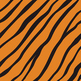 Vector seamless orange tiger fur pattern. Vector fur background. Flat seamless animal striped pattern. Tiger skin for fashion design Stock Photos