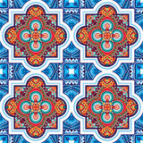 Vector seamless oriental ornament. Vector seamless pattern of oriental square ornament Stock Images