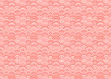 Vector Seamless Orietal Pattern, Living Coral Color Trend of the 2019 Year. Vector Seamless Orietal Pattern, Living Coral Color Trend of the 2019 Year, Abstract stock illustration