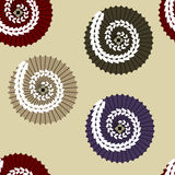 Vector seamless ornament with japanese umbrellas. Vector seamless ornament with traditional japanese umbrellas differently colored Royalty Free Stock Images