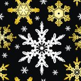 Vector. Seamless Ornament with Snowflakes Royalty Free Stock Images