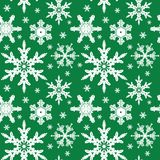 Vector. Seamless Ornament with Snowflakes Royalty Free Stock Photos