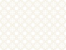 Free Vector Seamless Ornamental Gold Pattern - Geometric Arabic Design. Vector Luxury Oriental Background Stock Images - 168212434