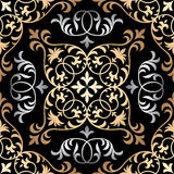 Vector seamless ornate oriental tile pattern. Seamless patchwork pattern from ornate tiles, ornaments. Can be used for wallpaper, pattern fills, web page Royalty Free Stock Image