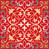 Vector seamless ornate oriental tile pattern. Seamless patchwork pattern from ornate tiles, ornaments. Can be used for wallpaper, pattern fills, web page Stock Photo