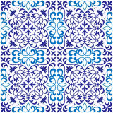 Vector seamless ornate oriental tile pattern. Seamless patchwork pattern from ornate tiles, ornaments. Can be used for wallpaper, pattern fills, web page Stock Photography