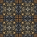 Vector seamless ornate oriental tile pattern. Seamless patchwork pattern from ornate tiles, ornaments. Can be used for wallpaper, pattern fills, web page Stock Image