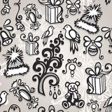 Vector Seamless Ornate Winter Pattern Stock Photo