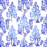 Vector Seamless Ornate Winter Pattern Stock Image