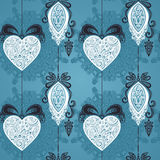 Vector Seamless Ornate Winter Pattern Royalty Free Stock Photography