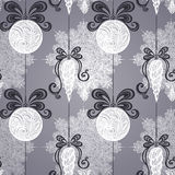 Vector Seamless Ornate Winter Pattern Stock Images
