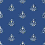 Vector seamless owl pattern. Can be used for Christmas or New Year pachaging, cards Royalty Free Stock Photo