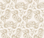 Vector seamless paisley background Stock Photo