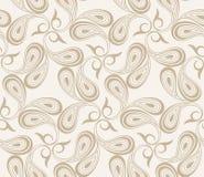 Vector seamless paisley background Stock Photo