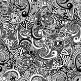 Vector Seamless Paisley Doodle Pattern. Fully editable eps 10 file with clippung mask and seamless pattern in swatch menu Stock Photo