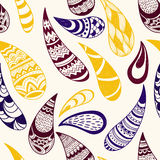 Vector Seamless Paisley Pattern Stock Photo