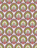 Vector seamless paisley wallpaper Royalty Free Stock Images