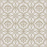 Vector Seamless Paper Cut Floral Pattern, Indian Style Royalty Free Stock Image