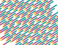 Vector Seamless Parallel Diagonal Overlapping  Lines Pattern Background. Design Stock Photos